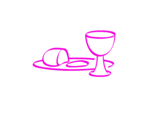 Graphic of a communion plate and cup